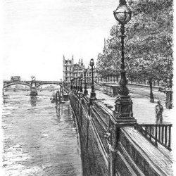 Pont de Westminster par Stephen Wiltshire